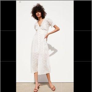 Zara Openwork Embroidery Dress